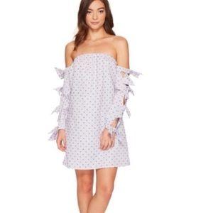 NWT Cece kellen Swiss dot tie sleeve dress
